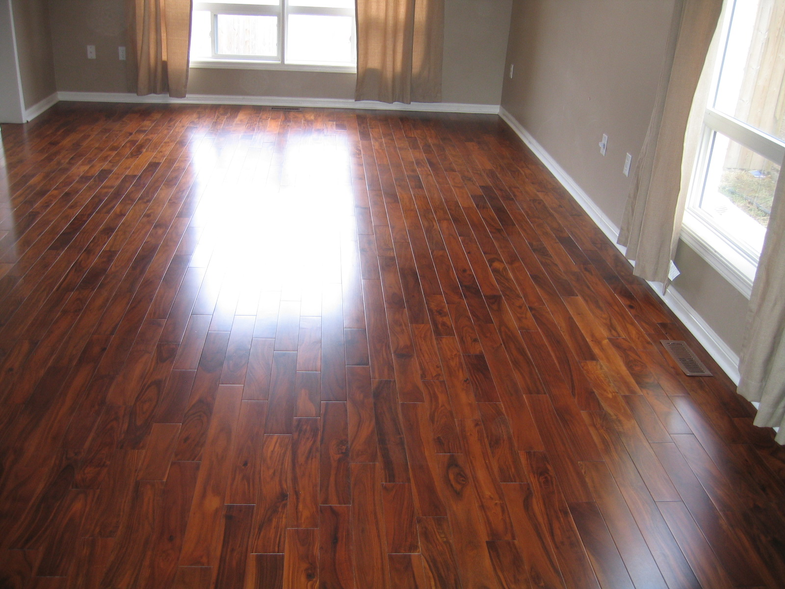 Attractive Bamboo Hardwood Floor Installation