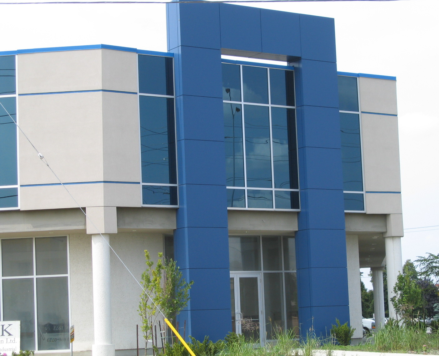 commercial stucco finishing installation in Mississauga