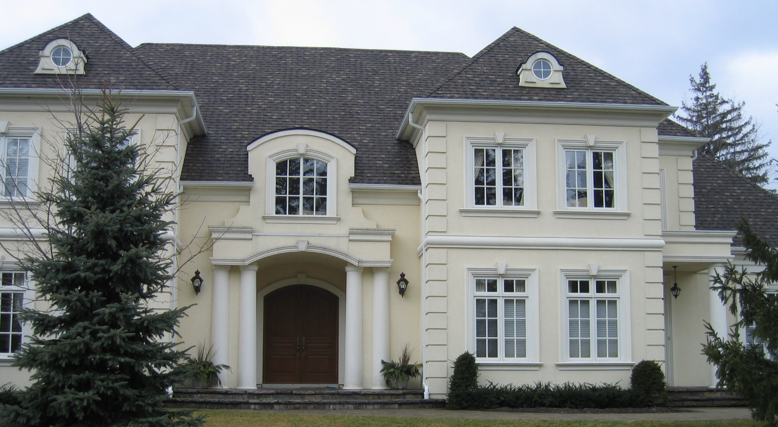 ... Stucco Finishing And Moulding Exterior Home Renovation ... Part 50
