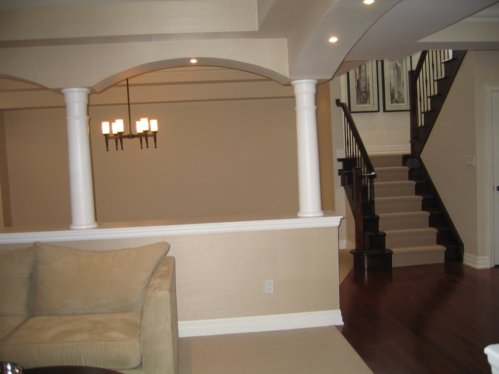 basement renovation and finishing in Oakville