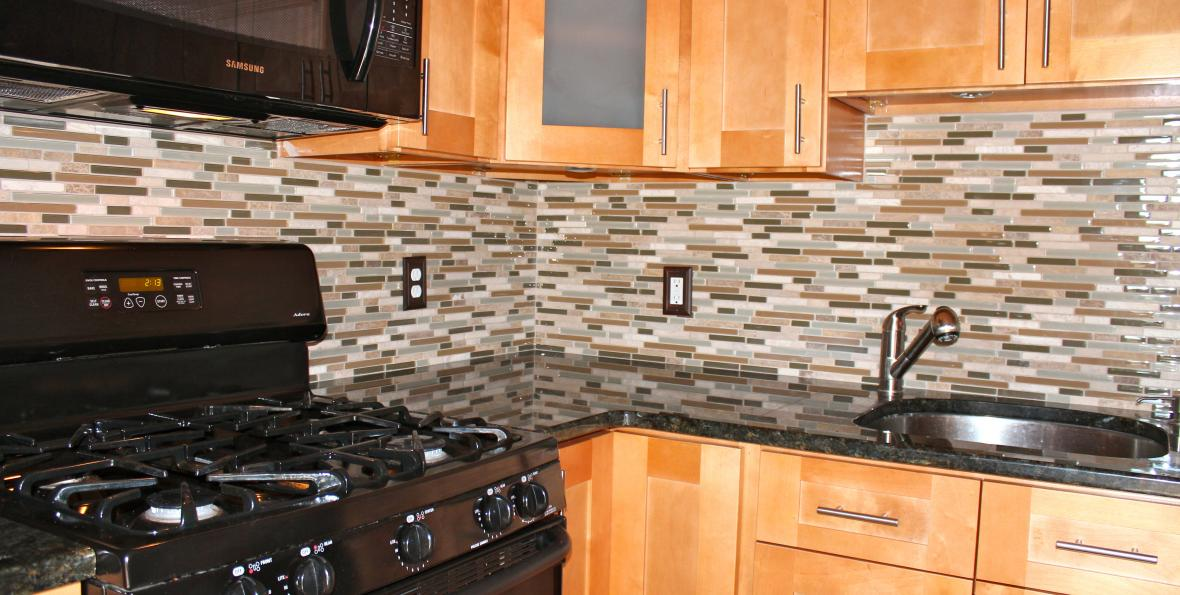 mosaic kitchen backsplash installation