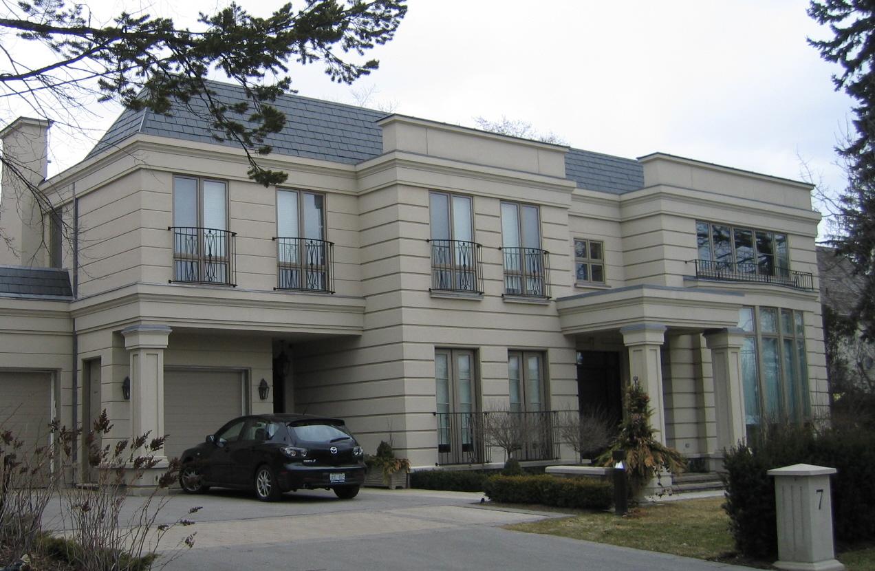 oakville residential stucco finishing application